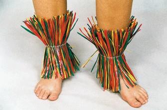 Fußschellen, bunt