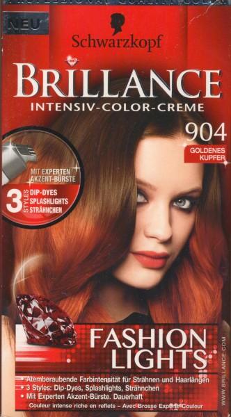 Brillance Intensiv-Color-Creme, 904 Goldenes Kupfer