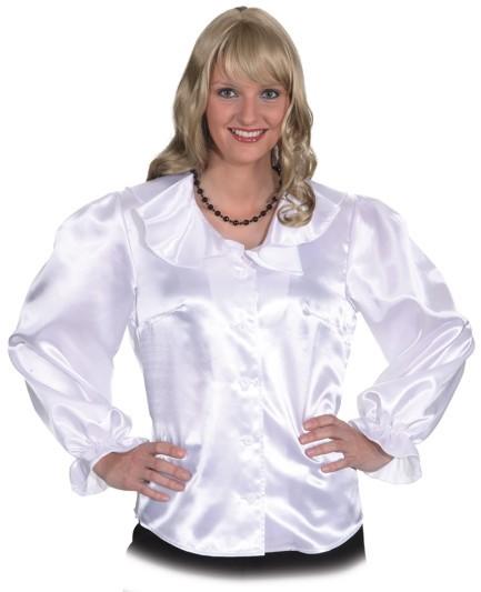 Damenbluse Bluse, weiß, in den Größen 36/38 bis 48/50