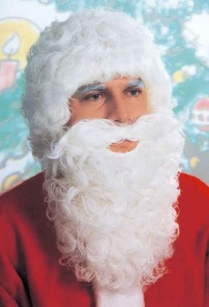Nikolausset, Bart und Perücke, matt-weiß