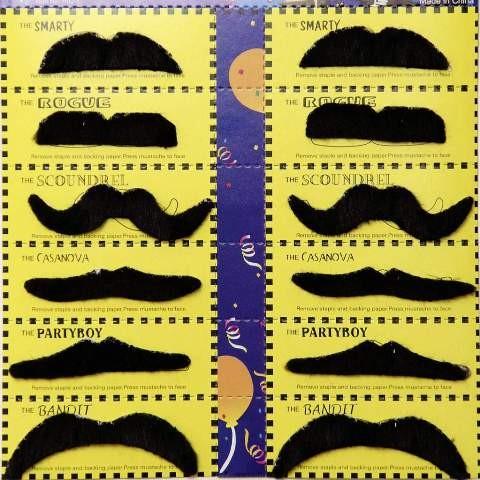 Bartkarte, schwarz (12 Stück)