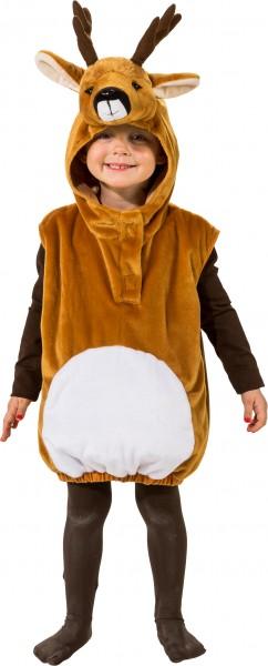 Fasching Kostüm Kinder Reh Weste - Weste mit Kapuze Gr. 104