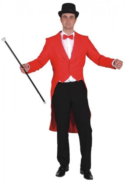Fasching Kostüm Herren Frack rot