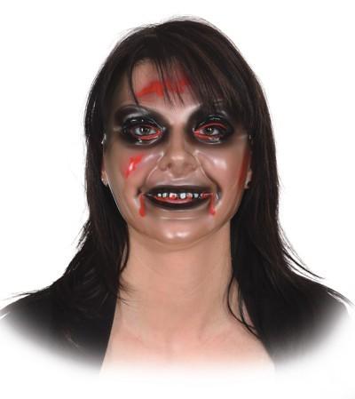 Fasching Halloween Zombie Maske Frau