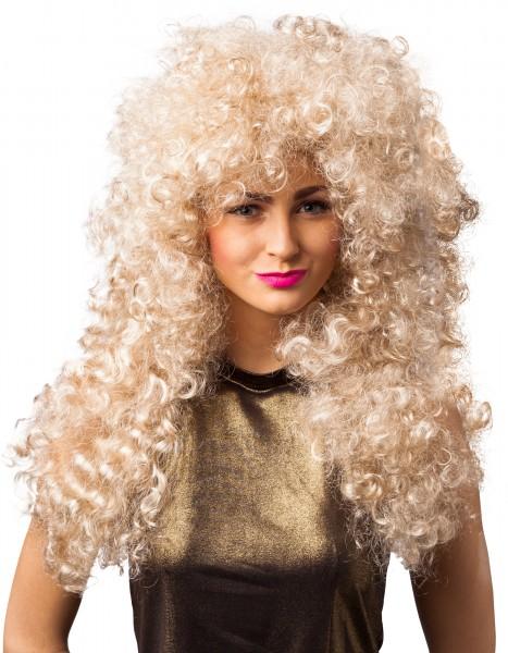 80er Jahre Damen Perücke gelockt blond