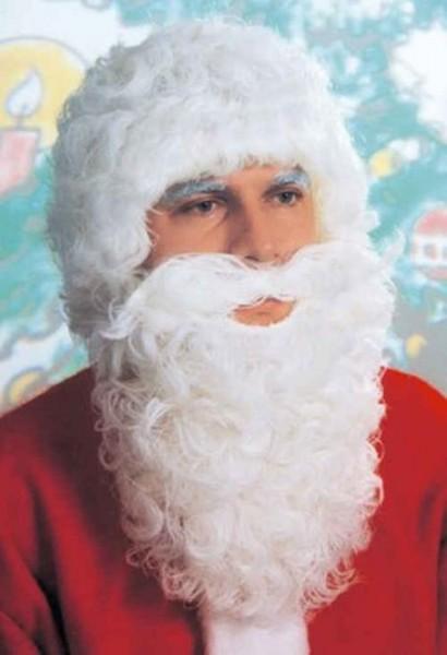 Weihnachtsmann Perücke kurz, weiß