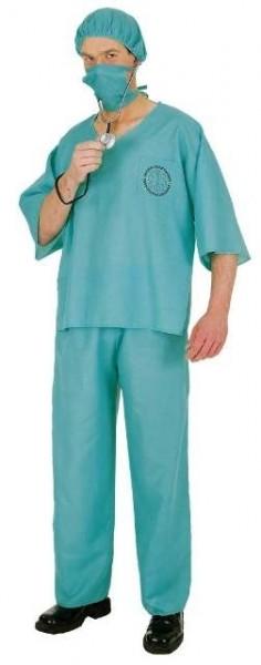 OP-Anzug (Hose, Oberteil, Mundschutz, Haube) - Größe: Unisize