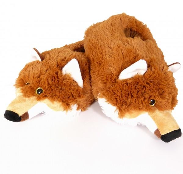 Plüsch Hausschuhe Fuchs - Größe M