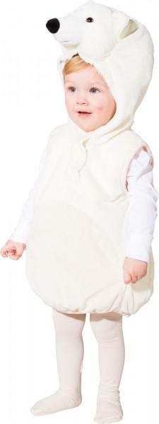 Fasching Kostüm Kinder Eisbär Weste - Weste mit Kapuze Gr. 104
