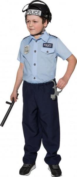 Fasching Kostüm Kinder Polizei Hemd (nur Hemd)