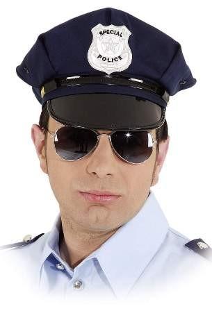 Amerikanische Polizeimütze blau - Kopfweite 60