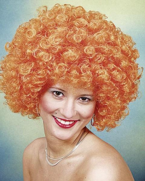 Perücke Hair große Locke, orange