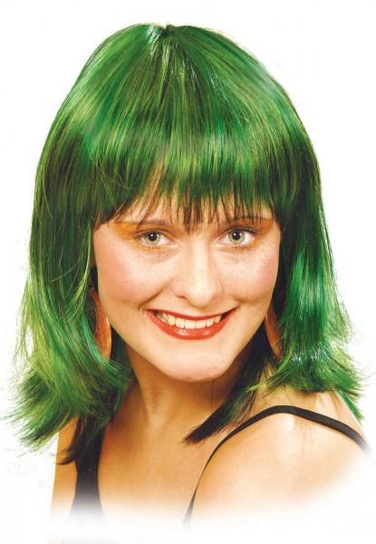 Perücke Mandy, grün-meliert