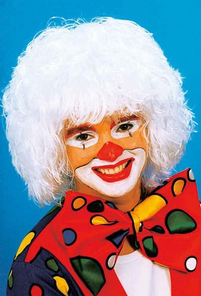 Perücke Clown, weiß