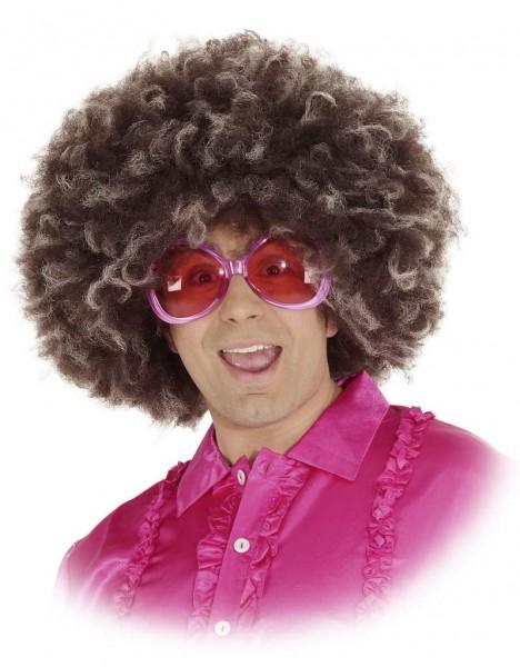 Perücke Afro Jimmy, braun-blond meliert