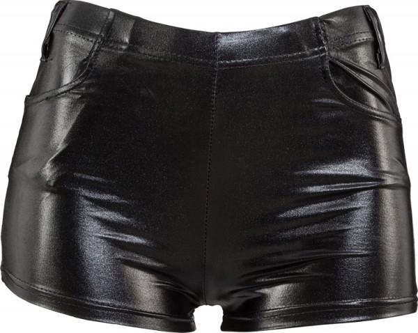 Fasching Damen Hot Pants gold oder schwarz