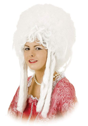 Faschingsperücke Damen Rococo weiß