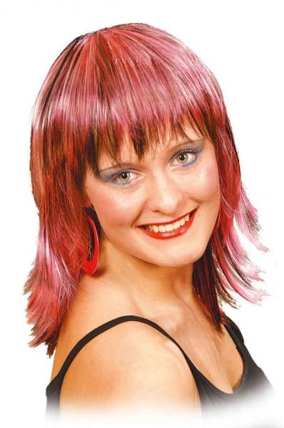 Perücke Mandy, pink-meliert