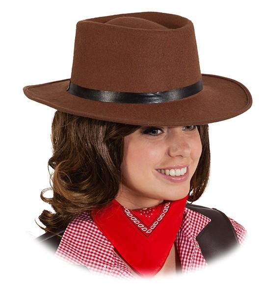 Faschingshut Cowboyhut Tom braun