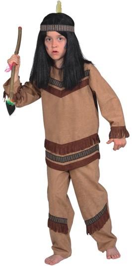 Faschingskostüm für Kinder: Indianer Cheyenne (Oberteil und Hose) - Größe: 116 - 164