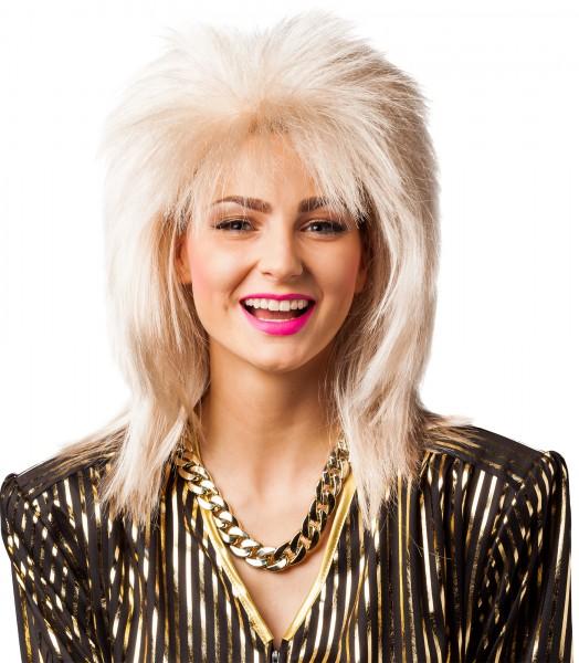80er Jahre Perücke unisex blond