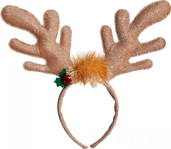 Fasching Weihnachten Haarreif Rentier in braun oder weiß