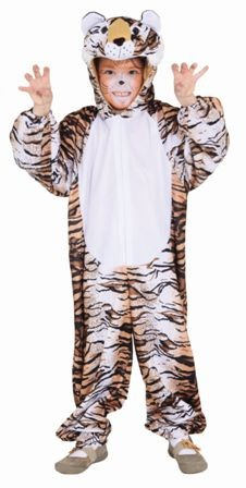 Fasching Kostüm Kinder Tiger - Overall mit Kapuze