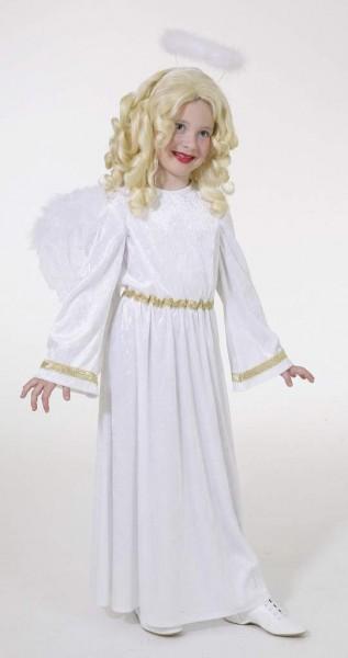 Engelskostüm Kinder Engelkleid weiß-gold in den Größen 128 bis 164