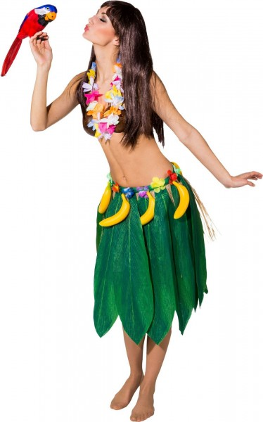 Fasching Hawaii Blätterrock mit Bananen