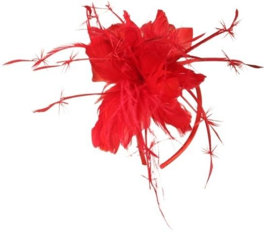 Faschingshut Haarreif mit Federn - 23989. 12 pink ohne Abbildung - 23989.17 rot