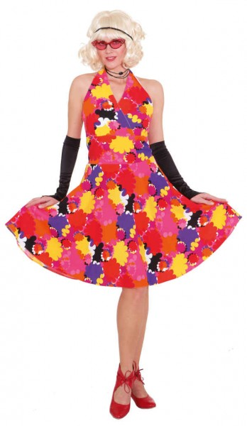 Kleid mit Blumen, pink-bunt - Größe: 36 - 44