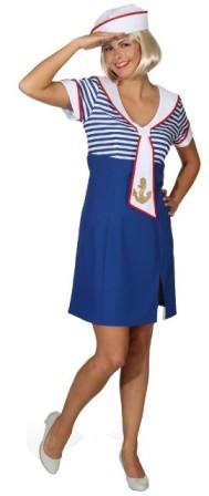 Matrosin Matrosenkleid Ahoi (Kleid, Mütze) in den Größen 36 bis 44