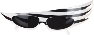 Faschingszubehör Showbrille schwarz-weiß