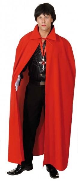 Faschingskostüm Umhang Dracula in rot (Unisize)