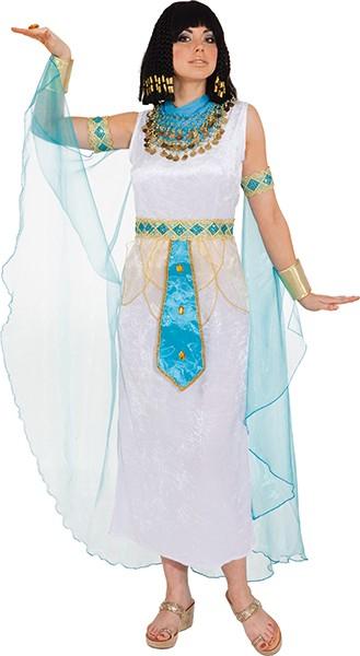 Ägypterin weiß (Kleid mit Gürtel, Umhang) in den Größen 36/38 bis 48/50