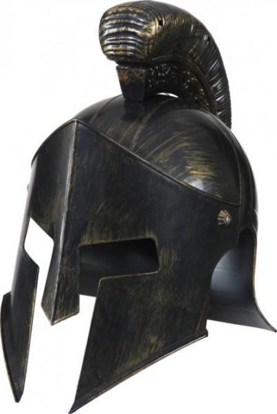 Faschingshut Gladiator-Helm silber