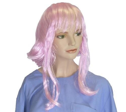 Faschingsperücke Damen: Magic rosa