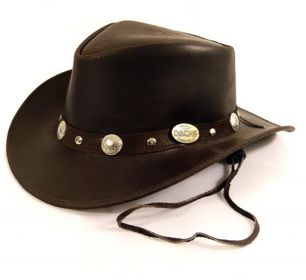 Echt Leder Outdoor Cowboyhut Westernhut Dunkelbraun - Split Leather