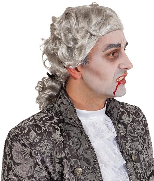 Perücke Vampire Lord mit Zopf