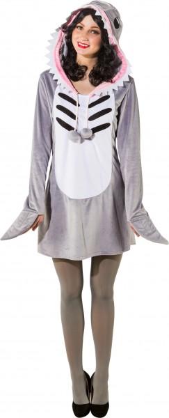 Fasching Kostüm Damen Kleid Hai