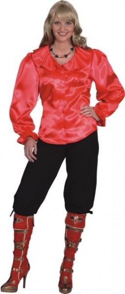Damenbluse Bluse, rot, in den Größen 36/38 bis 48/50
