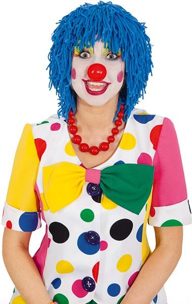 Faschingsperücke Clown Wolle, blau