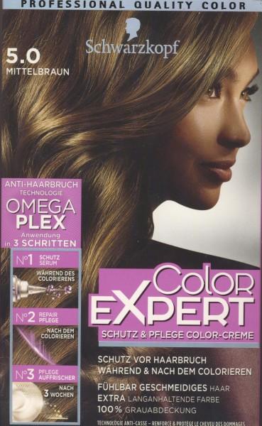 Schwarzkopf Color Expert Intensiv-Pflege Color-Creme, 5.0 Mittelbraun Stufe 3, 1er Pack (1 x 167 ml)