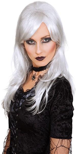 Perücke Dark Angel, weiß-grau (Halloween)