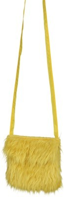 Faschingszubehör: Plüschtasche, gelb