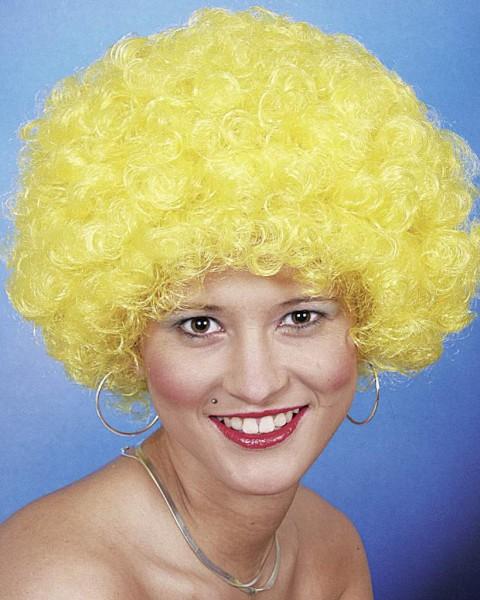 Faschingsperücke Hair, kleine Locke gelb
