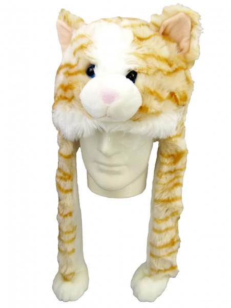 Plüsch Mütze Katze