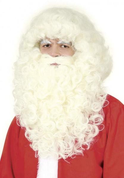 Weihnachtskostüm Nikolaus-Set, Bart und Perücke de LUX