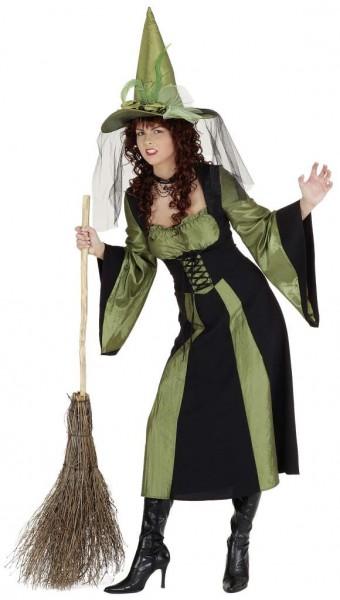 Waldhexe, grün-schwarz (Kleid) - Größe: 36 - 48