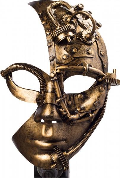 Fasching Maske Steampunk bronze